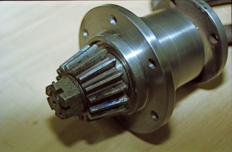 Damaged pinion gear